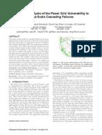 Power Grid Cascade Sensitivity