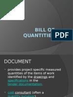 Bill of Quantities