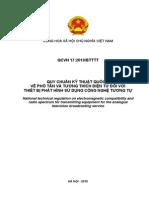 QCVN 17-2010 (Yeu Cau Ve Pho Tan Va EMC Cua May Phat Hinh Tuong Tu)