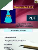 Rad 211-Dr.rana Lec 1