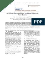 An ElGamal Encryption Scheme of Adjacency Matrix and Finite Machines