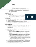 3701 Wk1 Standard Report Structure