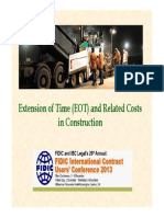 Eot - Related Costs in Construction