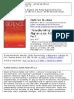 'Peacebuilding' in Afghanistan