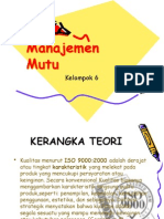 makalah Manajemen Mutu