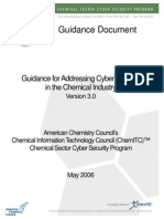Guidance for Adressing Cyber Security in the Chemical Industry