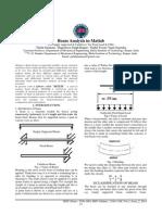 Beam Analysis Using the Stiffness Method in MATLAB Program