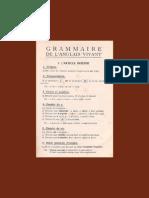 Livre Grammaire