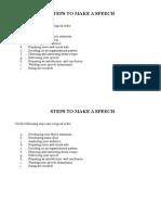 Steps to Make a Speech