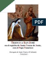 TRIDUO A SAN JOSÉ EN EL ESPÍRITU DE SANTA TERESA CON EL PAPA FRANCISCO