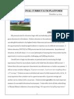 edu601 - personal curriculum platform