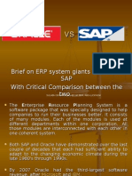 Brief on ERP System Giants ORACLE &
