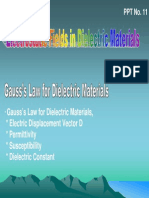 PPT11-Gauss Law in Dielectrics