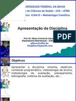 Apresentacao Disciplina Metodologia Cientifica