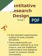 Quantitative Research Design