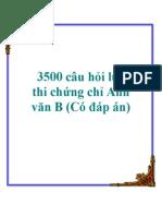 3500 Cau Hoi Luyen Thi Chung Chi Anh Van b Co Dap An