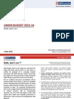Union Budget 15-16 - HDFC Sec