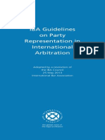 IBA Guidelines on Party Representation in Int Arbitration 2013
