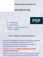 Non Traditional Machining Powerpoint