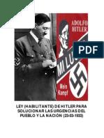 Ley (Habilitante) de Hitler (23!03!1933)