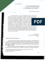 Donnet (2001) a Regra Fundamental e a Situação de Análise
