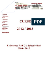 Exámenes PAEG Arte 2000-2012