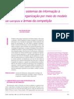 Integração Dos Sistemas de Informação à Estratégia Da Organização Por Meio Do Modelo de Campos e Armas Da Competição