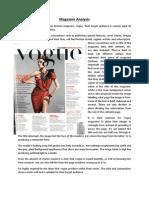 Magazine Analysis Vogue