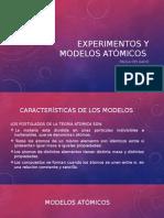 Experimentos y Modelos Atómicos