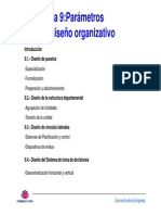 t9 Parametros de Diseño Organizativo
