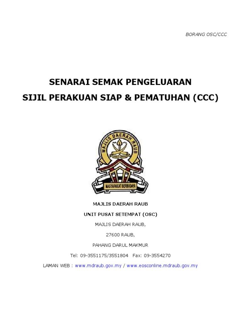 Senarai Semak Deposit Ccc Borang G1 G21 Senarai Semak Deposit
