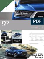 Audi Q7 consumer catalogue (2015, Germany)