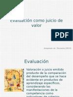 Introduccion a La Pedagogia Evaluación Como Juicio de Valor