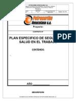 PLAN ESPECIFICO DE SEGURIDAD Y SALUD EN EL TRABAJO NUEVA NORMA 2013.docx