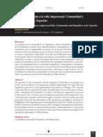 Sacchi - Comunidad y Biopolitica en R Esposito . Del Munus Comun a La Vida Impersonal. [RIDCD]