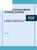 The Botswana Media Studies Papers Vol 1