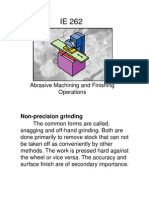 Abrasive Machining and Finishing Operations
