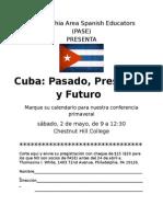 ¡Cuba!  Marque su calendario.