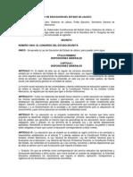 Ley de Educación Del Estado de Jalisco