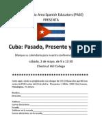 ¡Cuba!  Marque su calendario