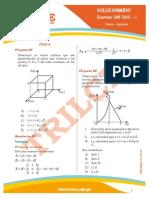 Examen de Admision Uni 2015 I (Fisica Quimica)
