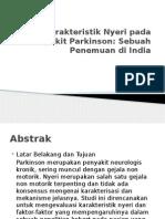 Karakteristik Nyeri Pada Penyakit Parkinson