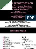 CRS - P1A0 Partus Prematurus Spontan + Gemelli + Anak I Letak Kepala + Anak II Letak Sungsang_dr.Dadan, SpOG