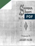 Souvenir de Asamblea (Convención) de los Estudiantes de La Biblia, Testigos de Jehová, Enero 2 al 5 de 1919