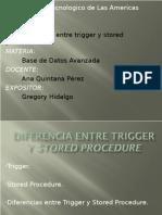 Diferencia Entre Trigger y Stored Procedure