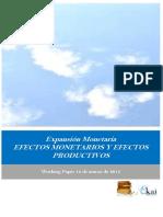 Expansión Monetaria. EFECTOS MONETARIOS Y EFECTOS PRODUCTIVOS