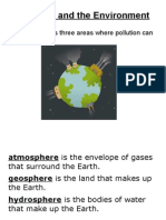 esci notes - pollution and affects on environment