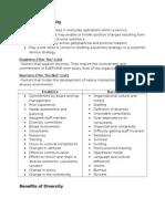 Factors of Diversity