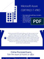 Microsoft Azure Certification -Online Proctored