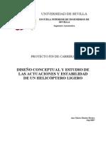 Actuaciones y Estabilidad de Helicoptero Ligero